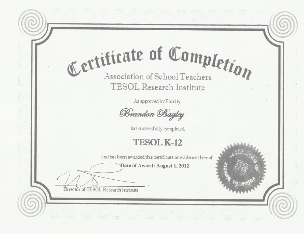 Documents for academy eico hr for Tefl certificate template